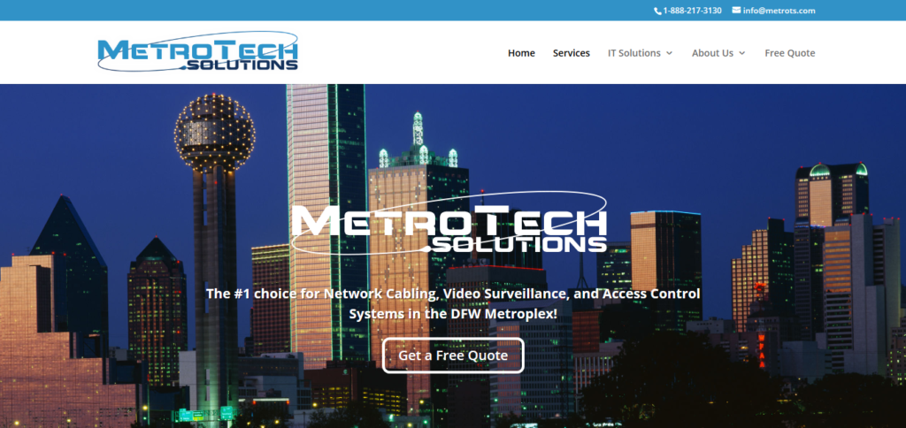 website development metro tech solutions irving texas